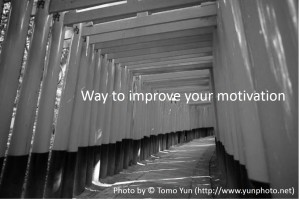 way to improve your motivation
